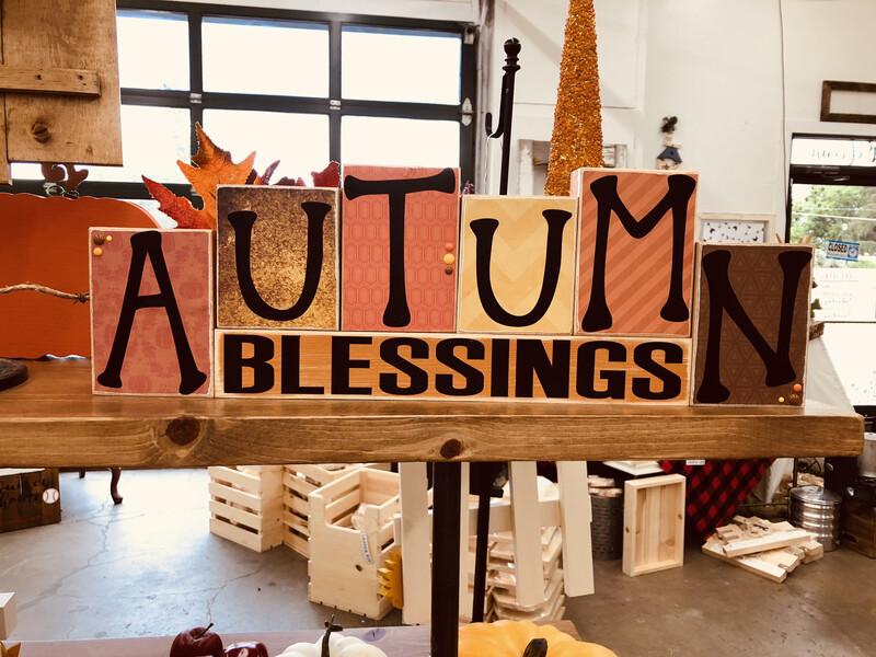 Autumn Blessing Blocks