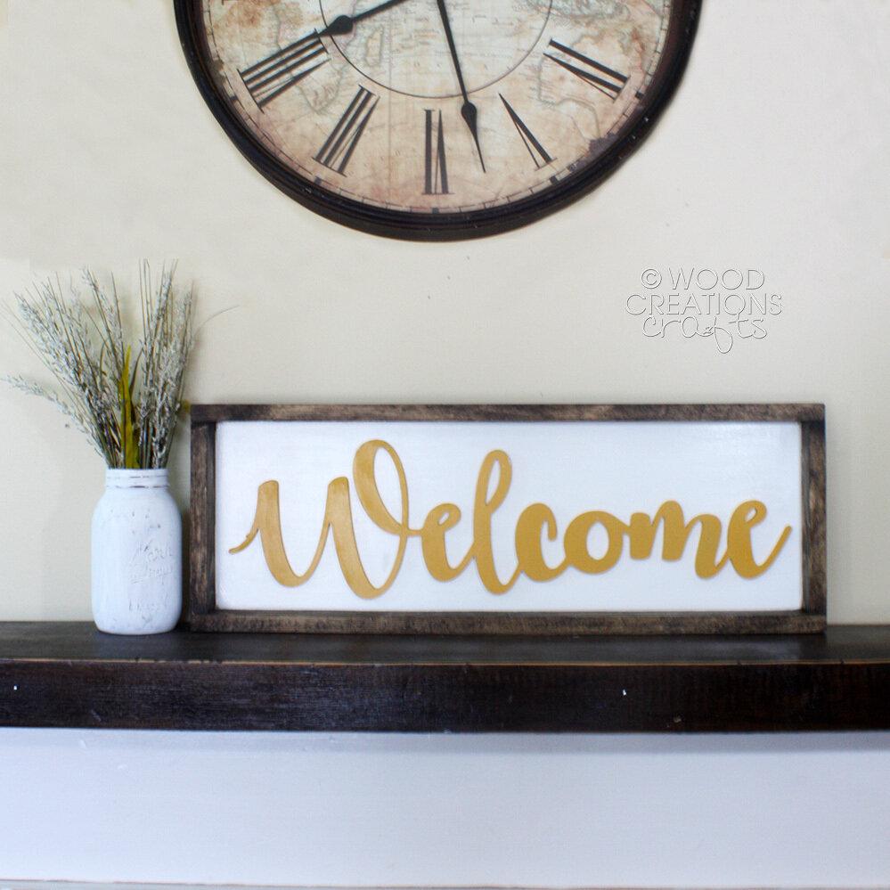 """Welcome"" Cursive Word"