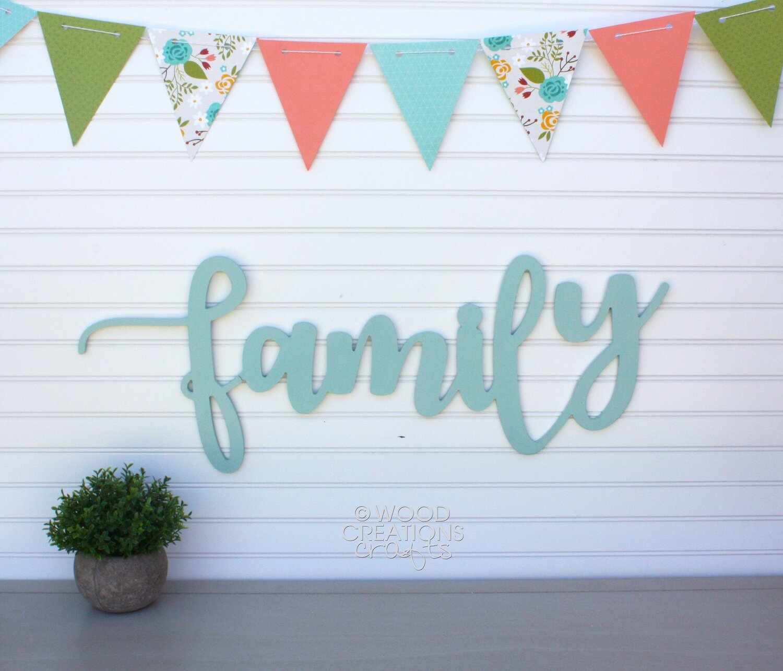 """Family"" Cursive Word"