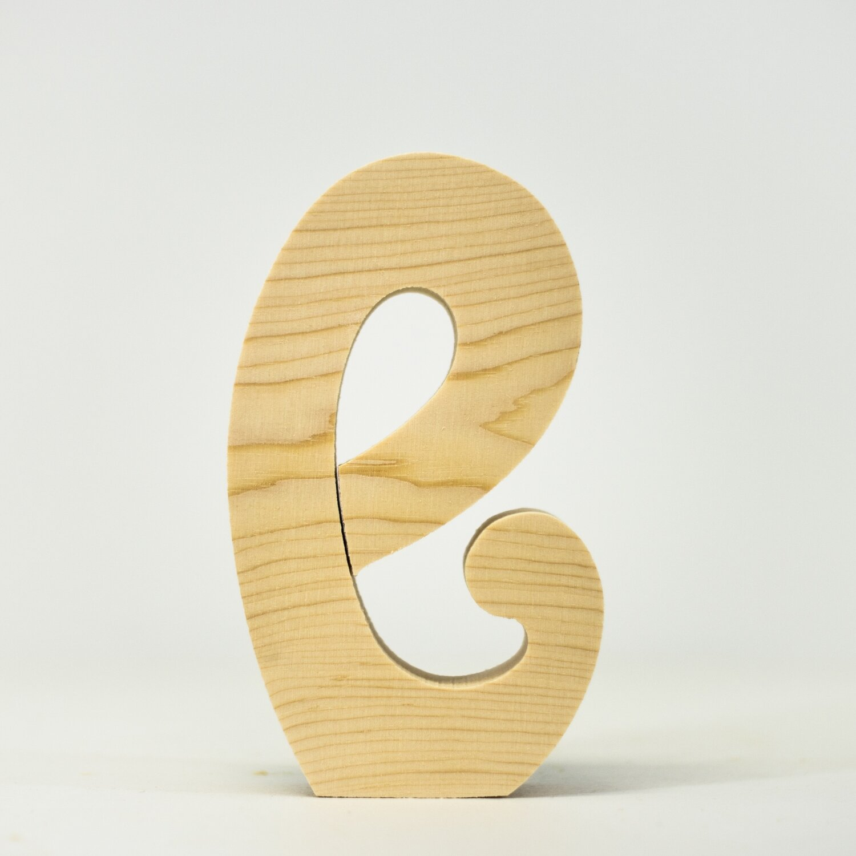 Alphabet - Fancy Lowercase - E