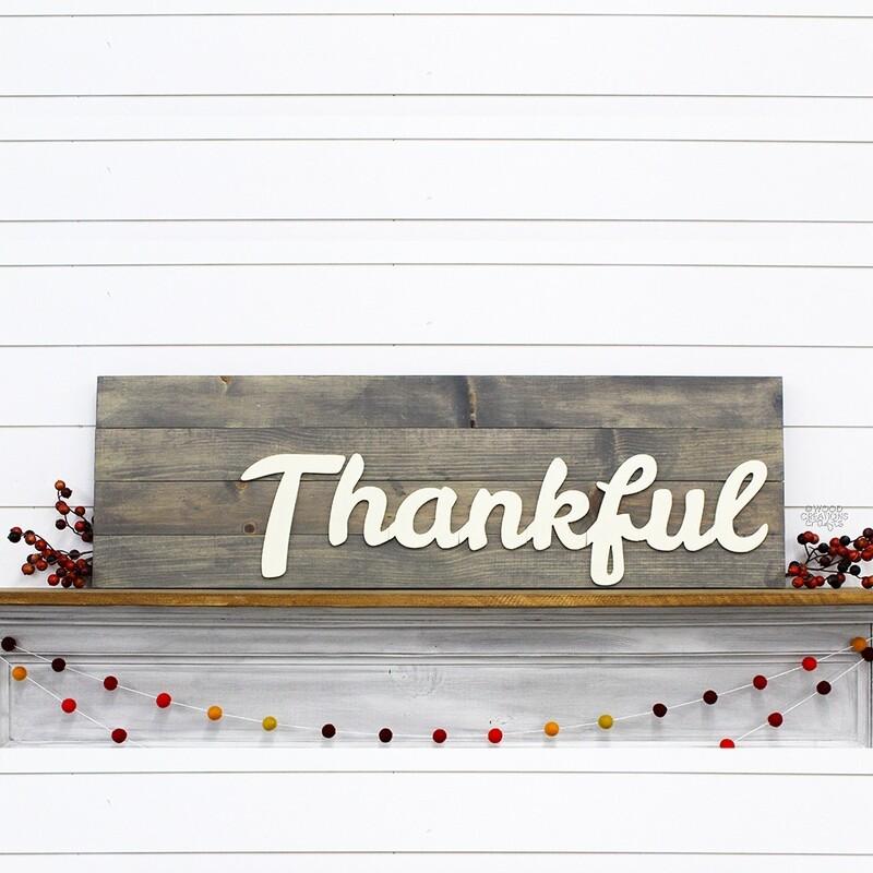 Thanksgiving Porch Board: Thankful 2018