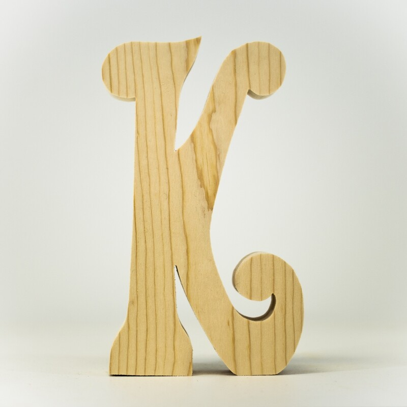 Alphabet - Fancy Uppercase - K