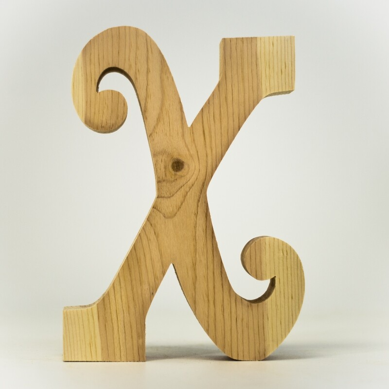 Alphabet - Fancy Uppercase - X