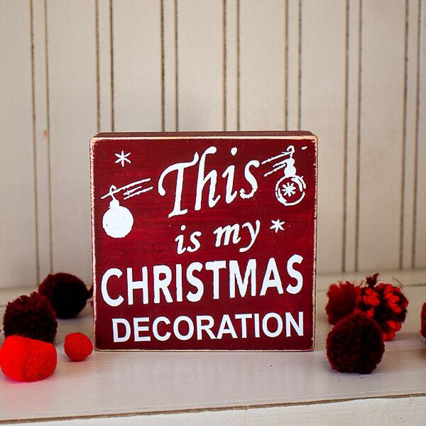 Christmas Decor Block