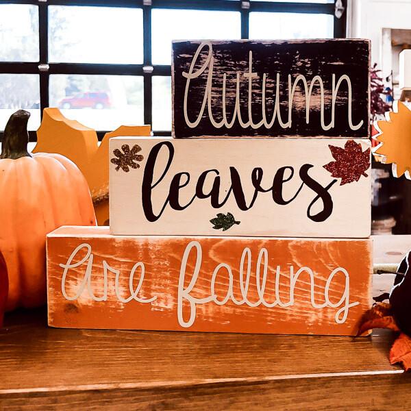 Autumn Leaves Simple Blocks