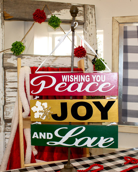 Peace, Joy, Love Sign
