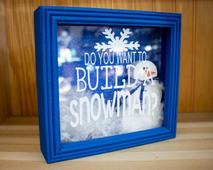 Build a Snowman Shadowbox