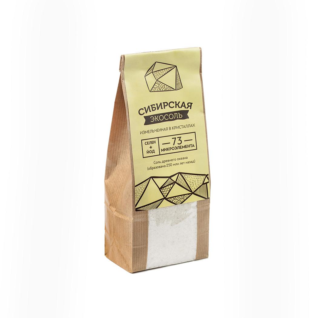 Экосоль сибирская молотая крафт-пакет 500г