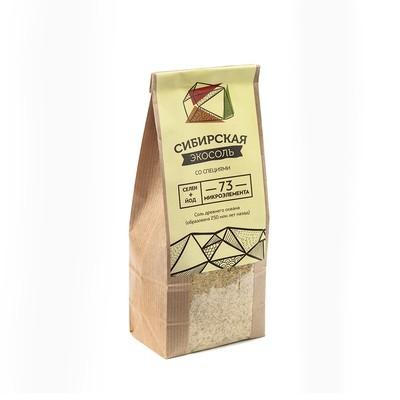 Экосоль сибирская молотая (купажи с зеленью и специями) крафт-пакет 500г