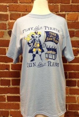 T-shirt Ram Run Play Like A Pirate, AL