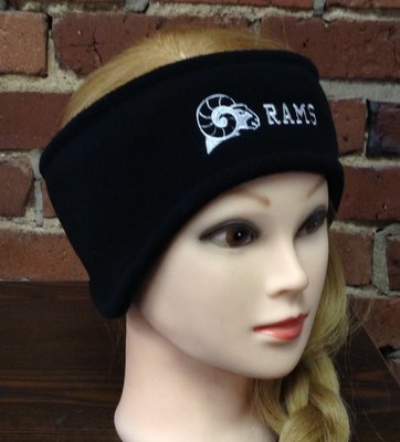 Headband with ear warmers, black