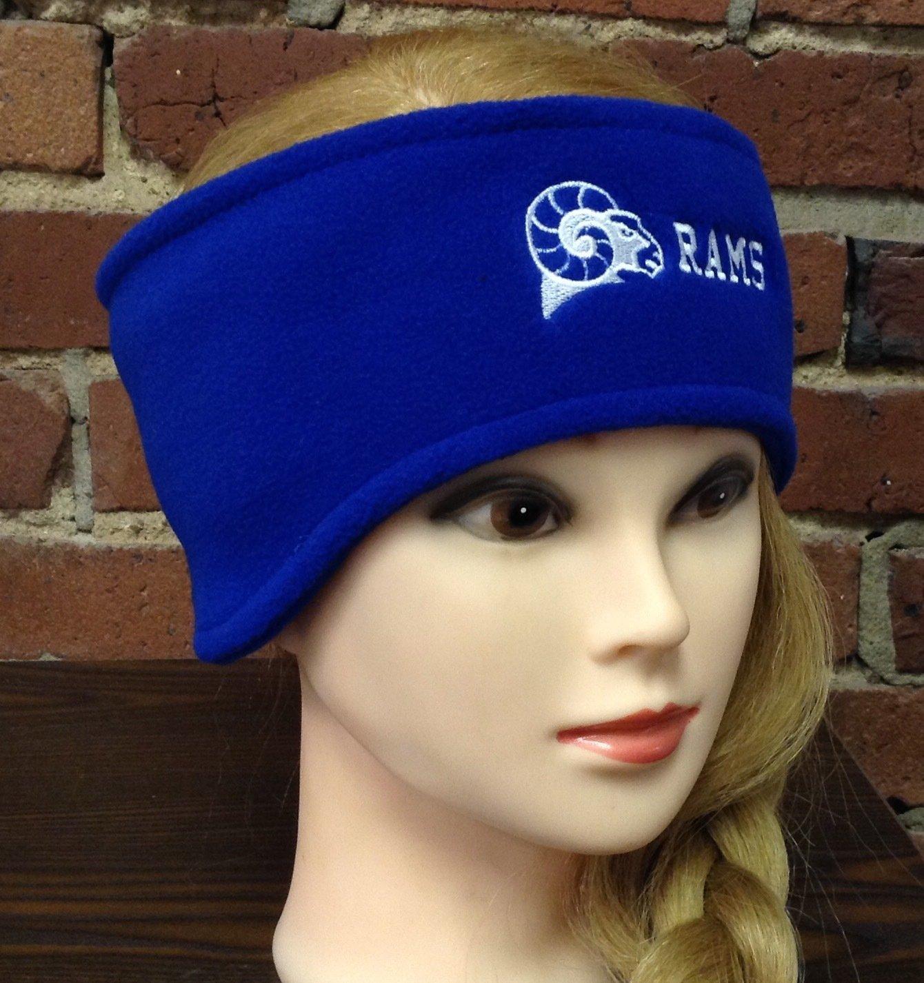 Headband with ear warmers, royal blue