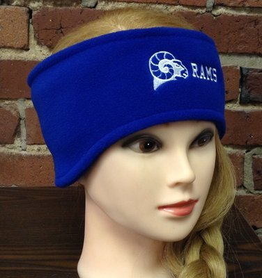 Headband with ear warmers, royal blue
