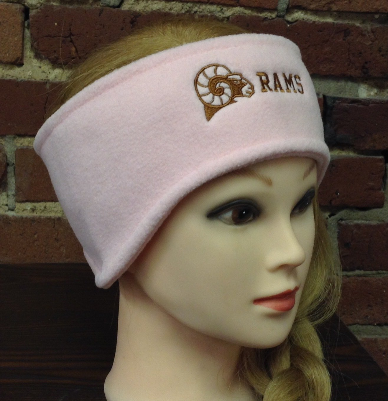 Headband with ear warmers, pink