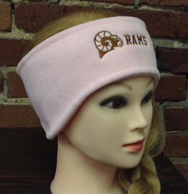 Headband with ear warmers, pink
