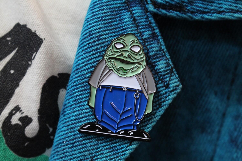 Jabba The Hutt Homies Parody Pin