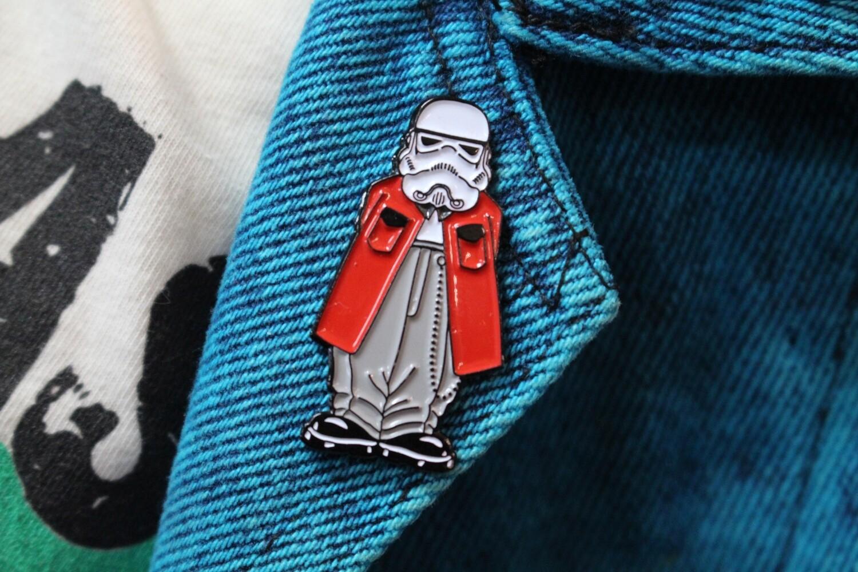 Cholo Storm Trooper Homies Parody Pin