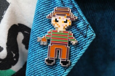 8-Bit Freddy Krueger Pin