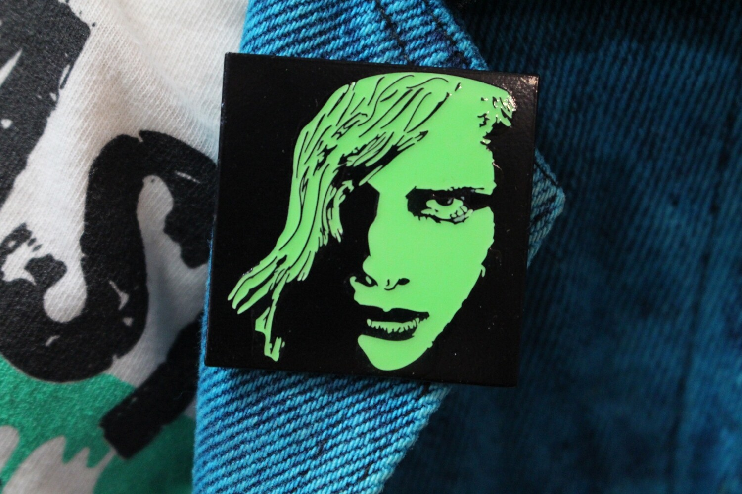 Glow in The Dark Night Of The Living Dead Pin