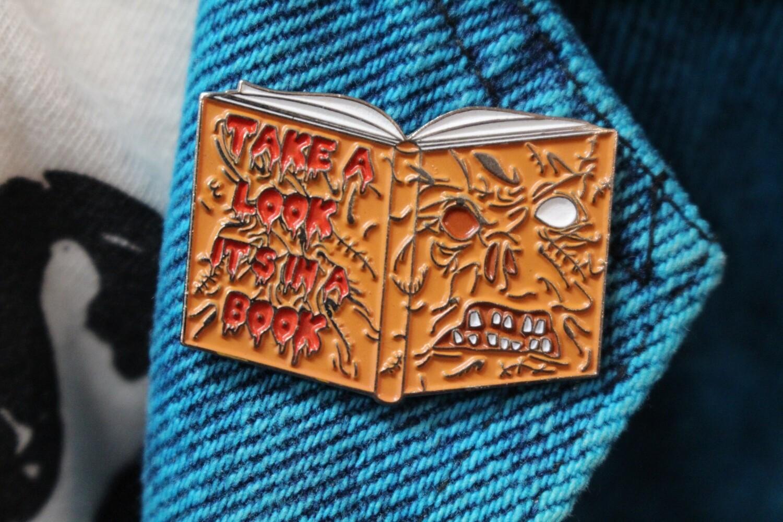 Necronomicon Reading Rainbow Pin