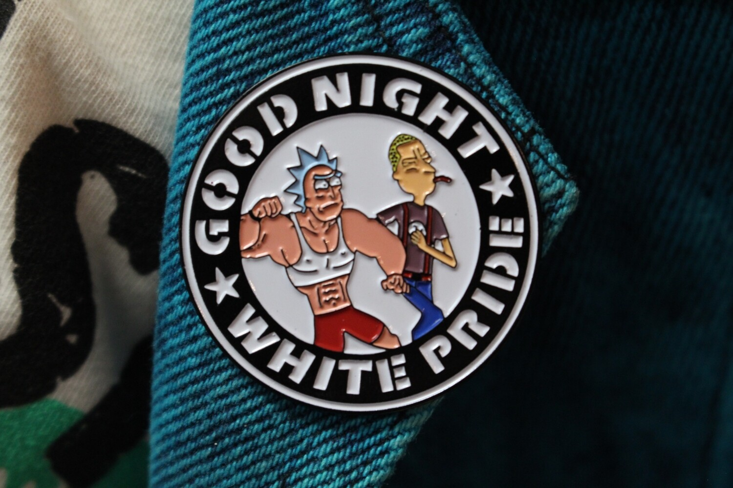 Rick Sanchez Good Night White Pride Pin