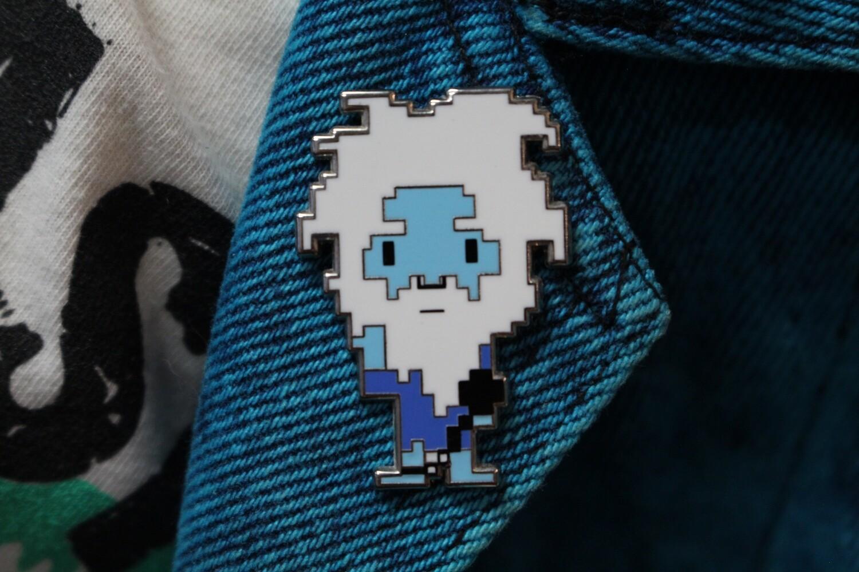 8-Bit Gus Haunted Mansion Ghost Pin