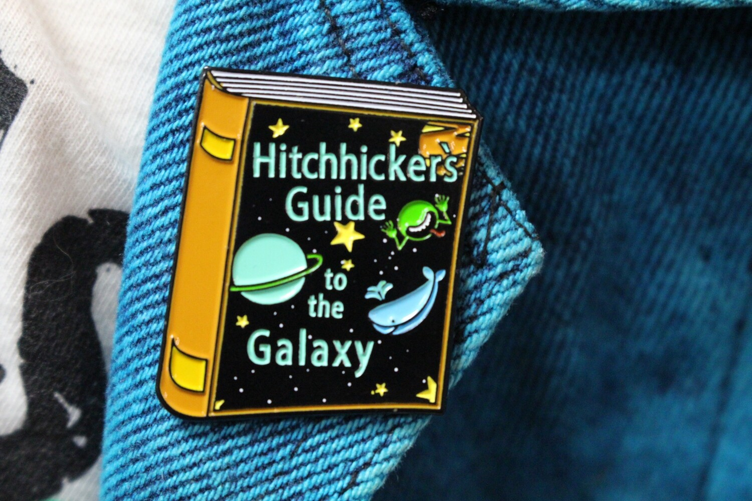 Hitchhiker's Guide Book Pin