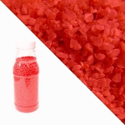 Красная кварцевая крошка RAL2002 (vermillion)