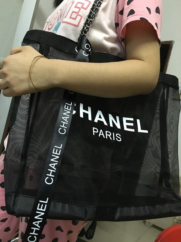 Chanel VIP Black/Pink (Other Colors) Large Tote/Shopping Bag & Cosmetic Case With Pretty Ribbon (2 & 3 Piece Bundles)