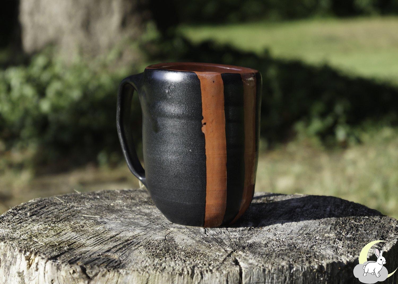 Red and Black Striped Mug