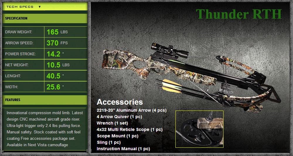 Арбалет Bowmaster Thunder RTH