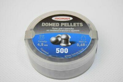 Пули пневматические Люман Domed pellets (500 шт, 4,5 мм, 0,68 г)