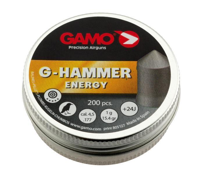 Пули пневматические Gamo G-Hammer (200 шт, 4,5 мм, 1 г) 00571
