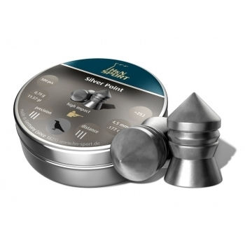 Пули пневматические H&N Silver Point (500 шт, 4,5 мм, 0,75 г) 01519