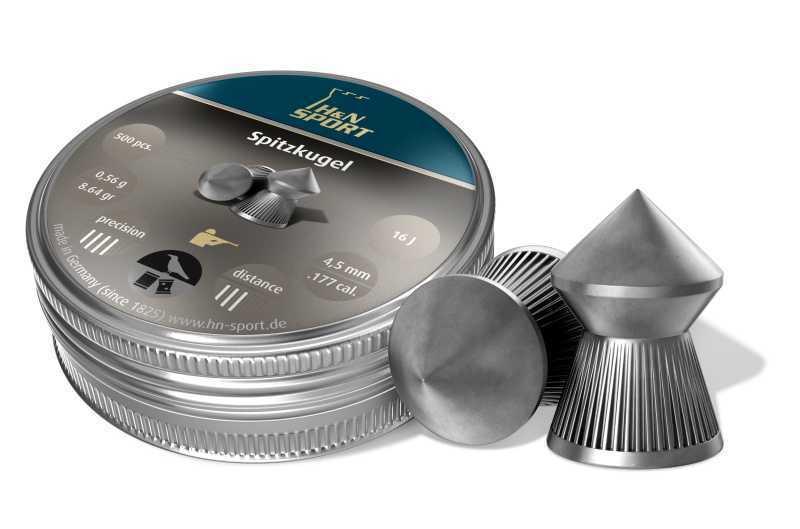 Пули пневматические H&N SpitzKugel (500 шт, 4,5 мм, 0,56 г) 01520