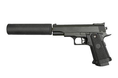 Пистолет страйкбольный Galaxy G.10А (COLT1911PD mini с глушителем)