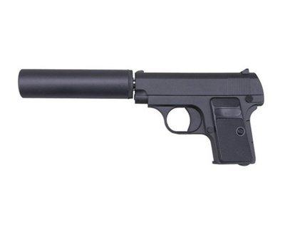 Пистолет страйкбольный Galaxy G.1A (COLT25 с глушителем)