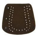 Крага на шнуровке (замша) коричневая
