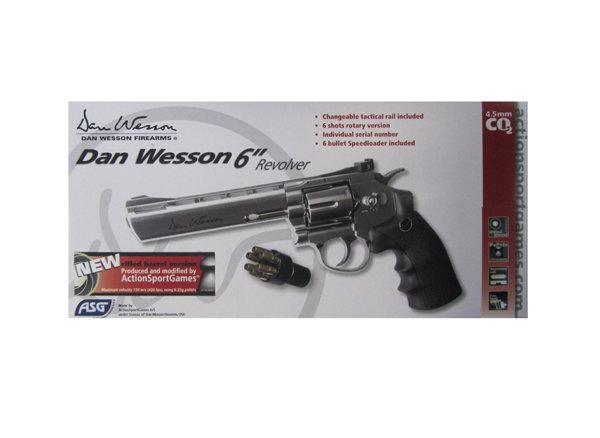Револьвер ASG Dan Wesson 6 Silver (пулевой)
