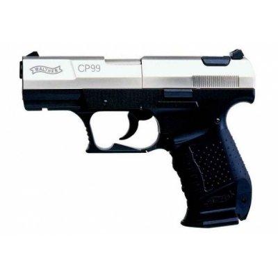 Пистолет Umarex Walther CP 99 Compact (никель с черной рукояткой)