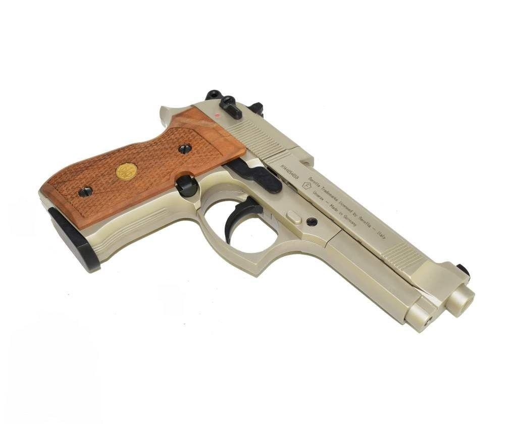 Пистолет Umarex Beretta M92 FS (никель с дерев. накладками)