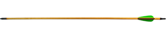 Стрела для лука дерево с натуральным пером 5/16-31 (6 шт.)