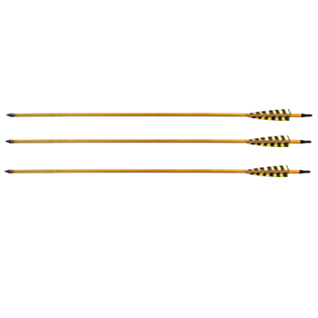 Стрела для лука карбон с натуральным пером WTP-7-340-30 (6 шт.)
