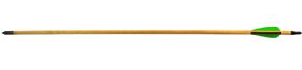 Стрела для лука дерево с натуральным пером 5/16-29 (6 шт.)
