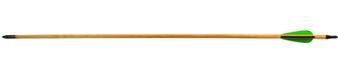 Стрела для лука дерево с натуральным пером 5/16-30 (6 шт.) 01844
