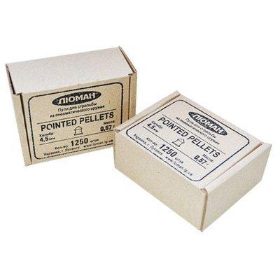 Пули пневматические Люман Pointed pellets (1250 шт, 4,5 мм, 0,57 г)