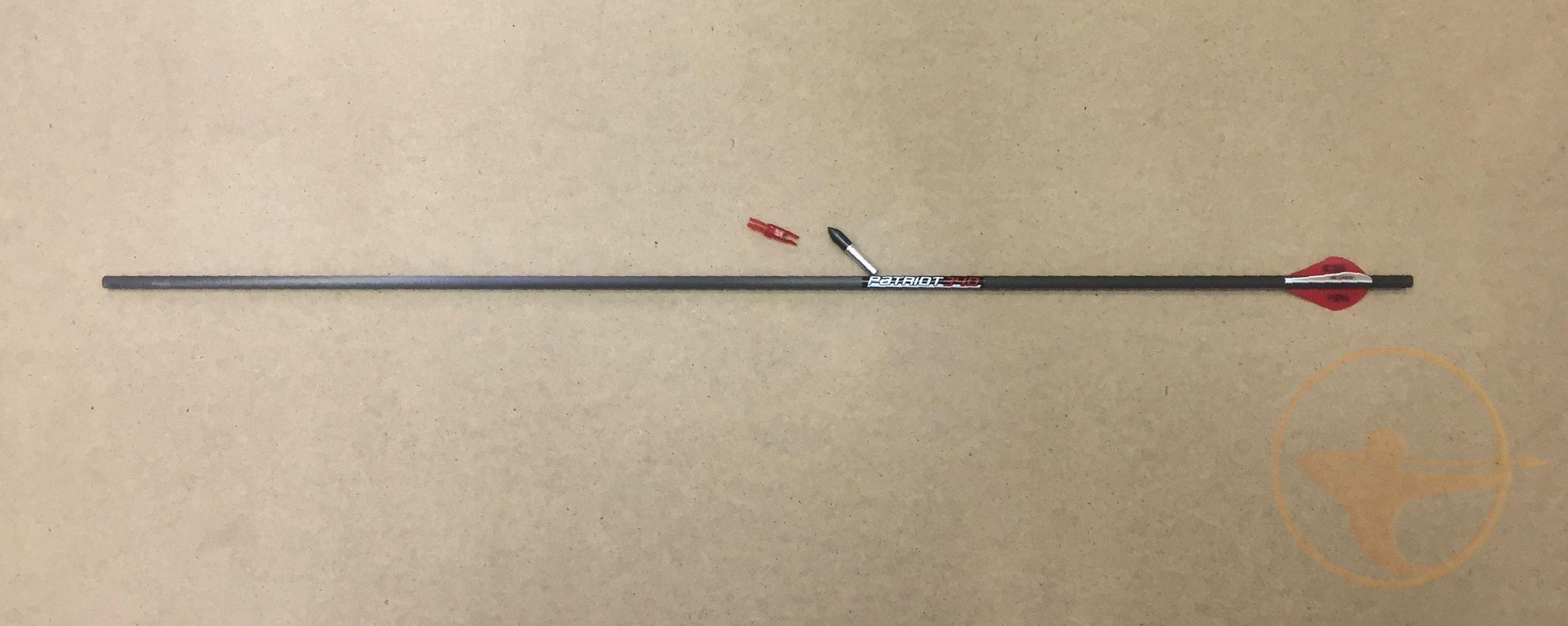 Стрела лучная карбоновая Bowmaster Patriot 340 с оперением Blazer (6 шт.)
