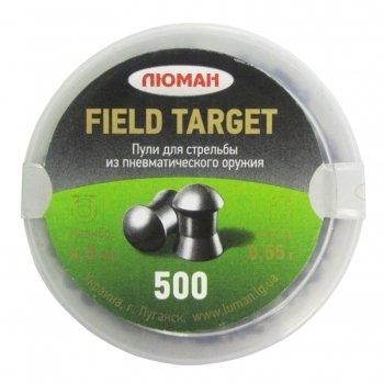 Пули пневматические Люман Field Target (500 шт, 4,5 мм, 0,55 г)