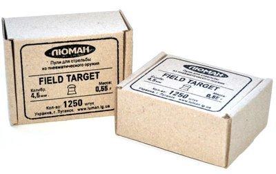 Пули пневматические Люман Field Target (1250 шт, 4,5 мм, 0,55 г)