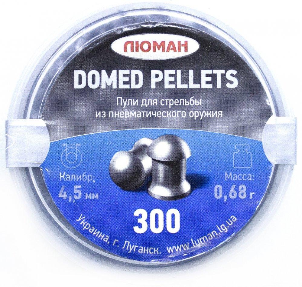 Пули пневматические Люман Domed pellets (300 шт, 4,5 мм, 0,68 г)